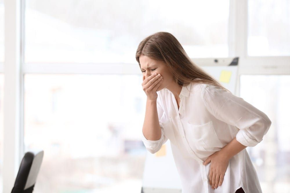 woman with nausea